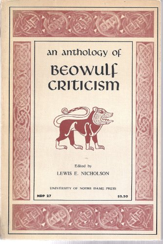 9780836925678: An anthology of Beowulf criticism (Essay index reprint series)