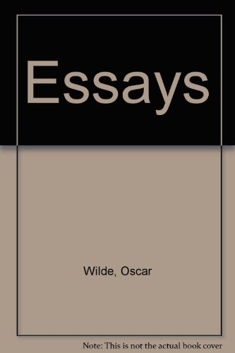 essays of oscar wilde essay index reprint series  9780836928327 essays of oscar wilde essay index reprint series
