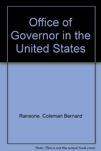 9780836955378: Office of Governor in the United States