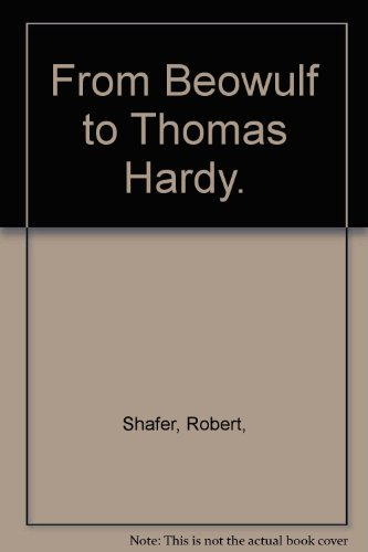 From Beowulf to Thomas Hardy (Granger index reprint series): n/a