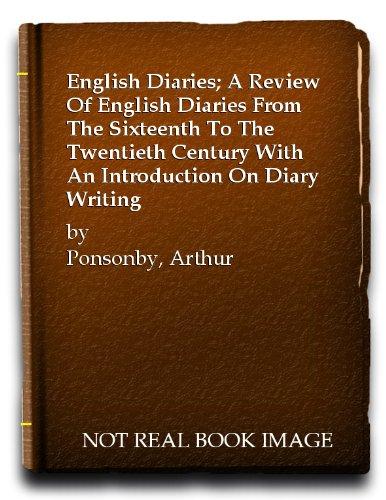 9780836966237: English Diaries
