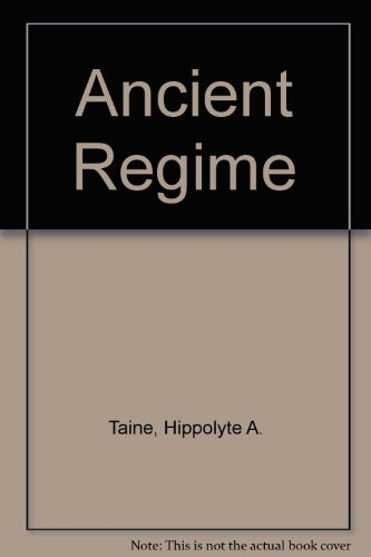 9780836967852: Ancient Regime (His Les origines de la France contemporaine [v. 1])