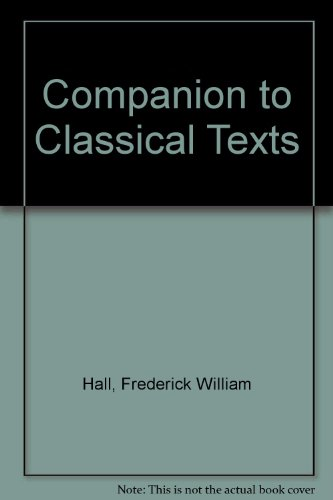 9780836968552: Companion to Classical Texts