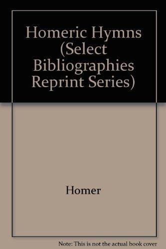 9780836968859: Homeric Hymns (Select Bibliographies Reprint Series)