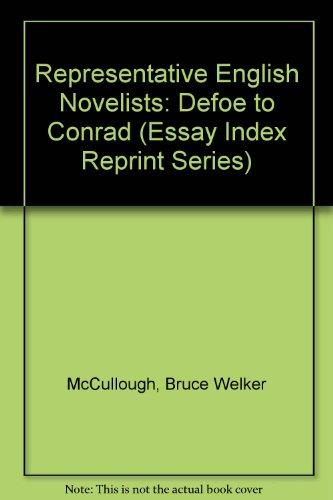 9780836972986: Representative English Novelists: Defoe to Conrad (Essay Index Reprint Series)