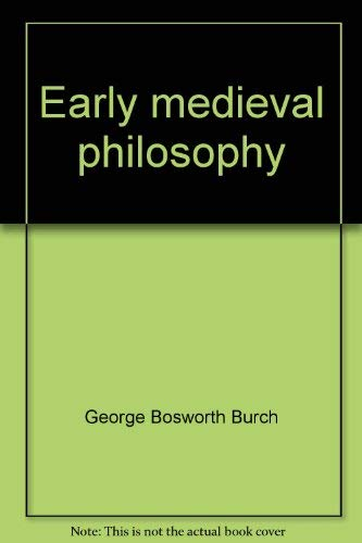 9780836980547: Early medieval philosophy (Biography index reprint series)