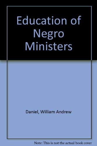 9780837114101: Education of Negro Ministers