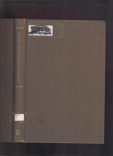 Negro migration in 1916-17: Leavell, R. H. et al.