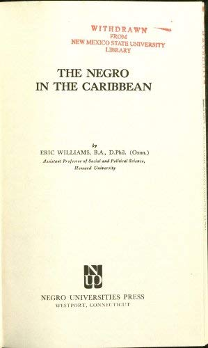 9780837118093: The Negro in the Caribbean.