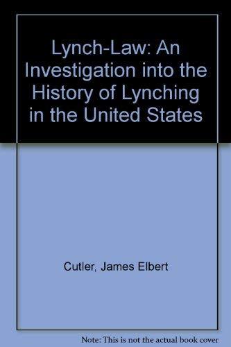 9780837118215: Lynch-law
