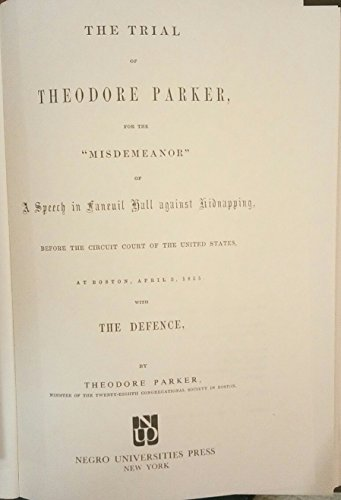 TRIAL OF THEODORE PARKER