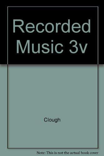 9780837130033: Recorded Music 3v