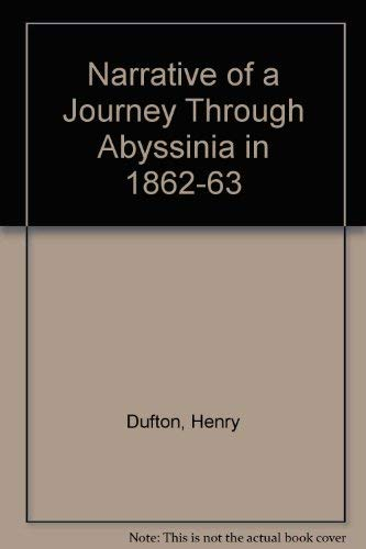 9780837135342: Narrative of a Journey Through Abyssinia in 1862-63