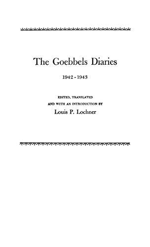 9780837138152: The Goebbels Diaries, 1942-1943.