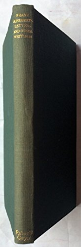 9780837143316: Franz Schubert's Letters and Other Writings.