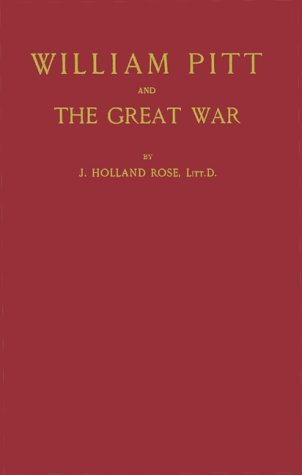 9780837145334: William Pitt and the Great War