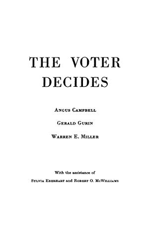 9780837155661: The Voter Decides