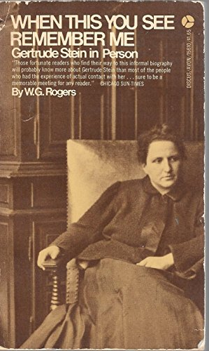 9780837157610: When This You See Remember Me: Gertrude Stein in Person