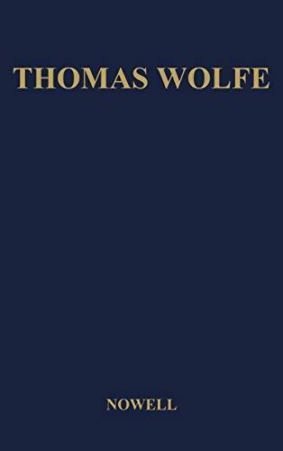 9780837165196: Thomas Wolfe: A Biography