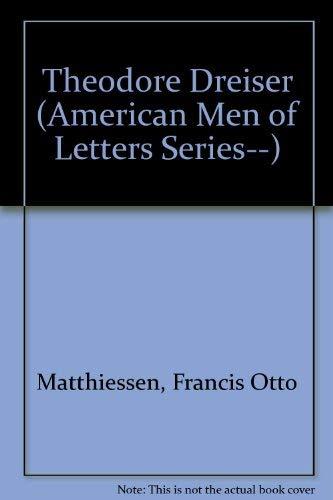 9780837165509: Theodore Dreiser (American Men of Letters Series--)