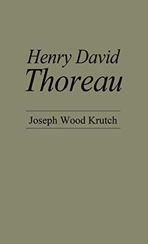 9780837165875: Henry David Thoreau (American Men of Letters Series)