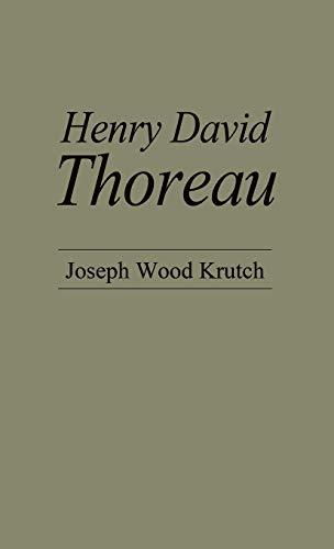 9780837165875: Henry David Thoreau (American Men of Letters Series)