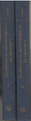 9780837170534: A History of Autobiography in Antiquity. [2 volumes]