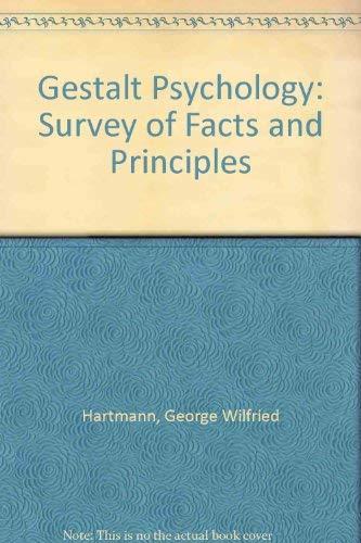 9780837172132: Gestalt Psychology: A Survey of Facts and Principles
