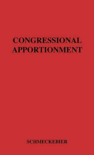 9780837174860: Congressional Apportionment. (Institute for Government Research of the Brookings Institution Studies in Administration)