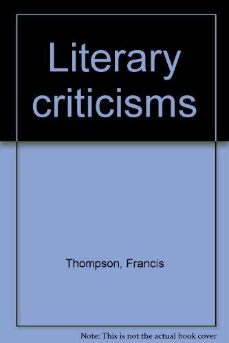 Literary criticisms: Thompson, Francis
