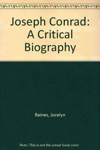 9780837183046: Joseph Conrad: A Critical Biography