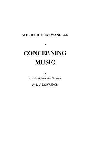 Concerning Music: Wilhelm Furtwängler