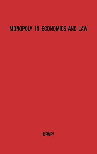 9780837188119: Monopoly in Economics and Law.