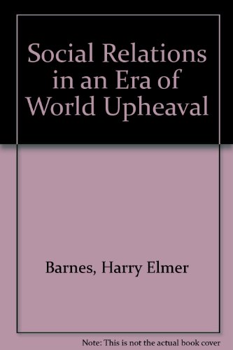 9780837196541: Social Institutions in an Era of World Upheaval.