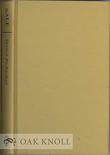 9780837197326: Samuel Richardson: Master Printer (Cornell Studies in English; No.37)
