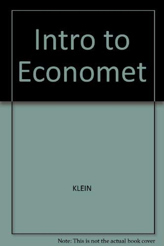 9780837198385: Intro to Economet