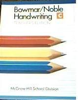 9780837240466: Bowmar/Noble Handwriting Book C. Teacher's Edition.