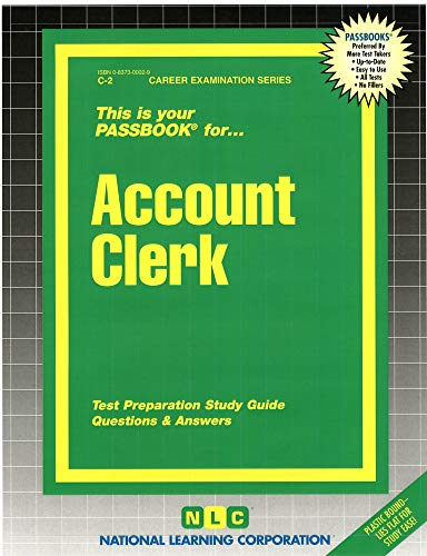 9780837300023: Account Clerk(Passbooks) (Career Examination Series: C-2)
