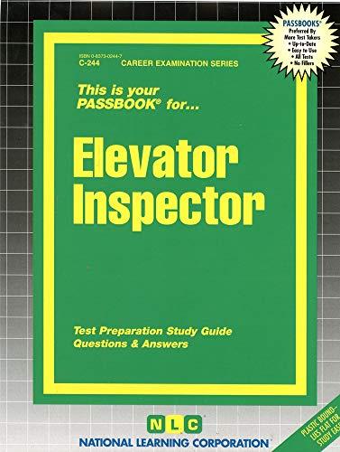 9780837302447: Elevator Inspector(Passbooks) (Career Examination, C-244)