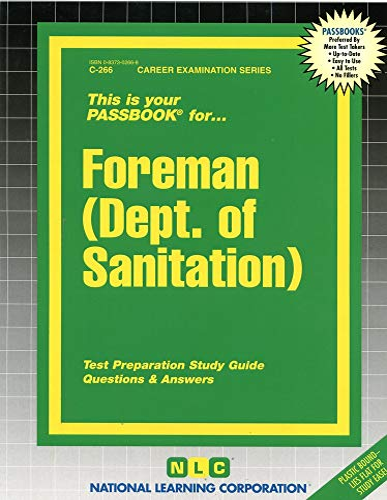 9780837302669: Foreman (Dept. of Sanitation)(Passbooks) (Career Examination Passbooks)