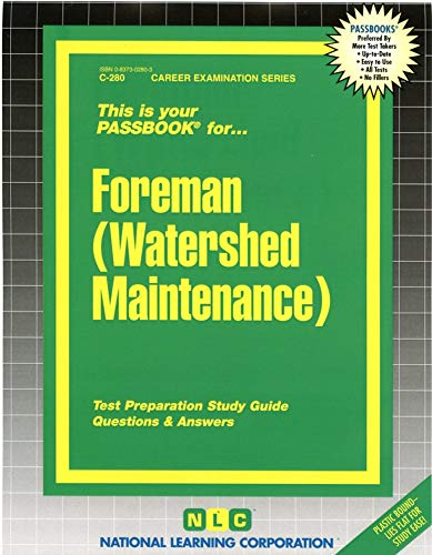 9780837302805: Foreman (Watershed Maintenance)(Passbooks)