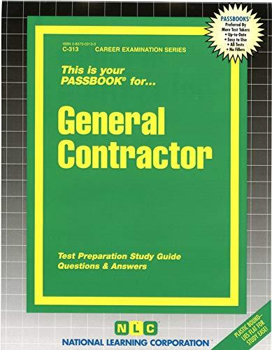 9780837303130: General Contractor(Passbooks) (Passbook for Career Opportunities)