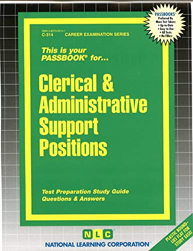 9780837303147: Clerical & Administrative Support Positions(Passbooks)