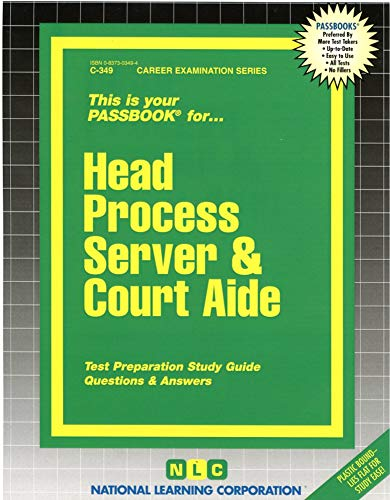 9780837303499: Head Process Server & Court Aide(Passbooks) (Career Examination Passbooks)