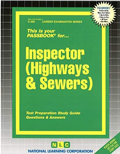 9780837303666: Inspector (Highways & Sewers)(Passbooks)