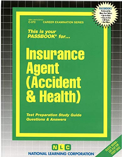 9780837303727: Insurance Agent (Accident & Health)(Passbooks) (Accident and Health)