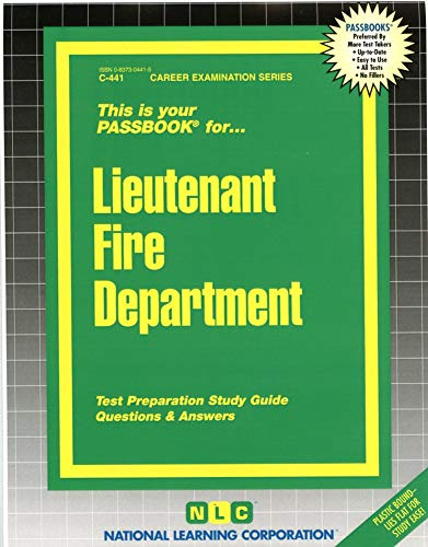 9780837304410: Lieutenant Fire Department(Passbooks) (Career Examination Passbooks)