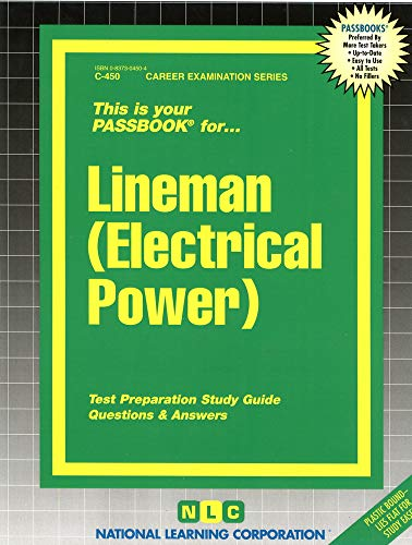 9780837304502: Lineman (Electrical Power)(Passbooks) (Career Examination Series : C-450)