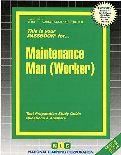 9780837304632: Maintenance Man (Worker)(Passbooks) (Career Examination Series/C-463)