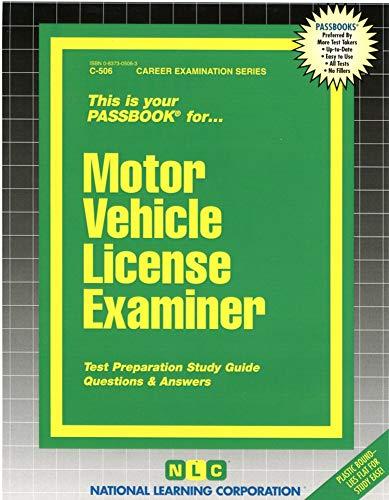 Motor Vehicle License Examiner - Rudman, Jack